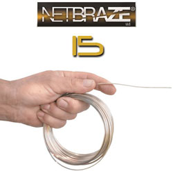 NETBRAZE 15 QUICKCOIL 22FT COIL (1/2LB) .050
