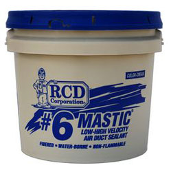 #6 MASTIC 2 GALLON DUCT SEALANT LEED Compliant (80/PALLET)