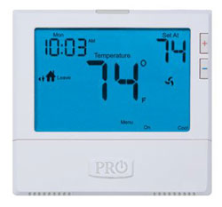 T805 5/1/1 OR 7 DAY PROGAMMABLE 1H/1C DIGITAL THERMOSTAT W/8 SQ. IN. DISPLAY