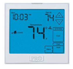 T925 5/1/1 OR 7 DAY PROGAMMABLE 3H/2C TOUCHSCREEN THERMOSTAT W/13 SQ. IN. DISPLAY