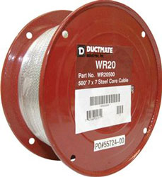 #20 STEEL CABLE WR20500 500'/RL